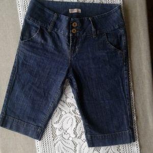Fylo denim shorts darker wash with some stretch